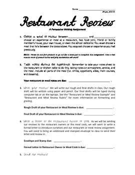 How To Review A Restaurant Like a Pro!
