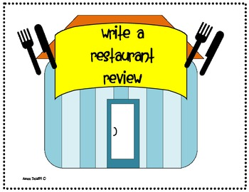 Restaurant Review Writing Activity