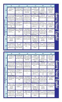 Restaurant Things and Activities Spanish Battleship Board Game