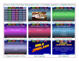 Restaurant Things and Activities Spanish Jeopardy Game