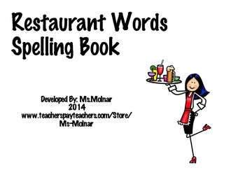 Restaurant Words Spelling Words