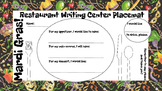 Restaurant Writing Center Mardi Gras! Literacy, Reading, Writing and Food
