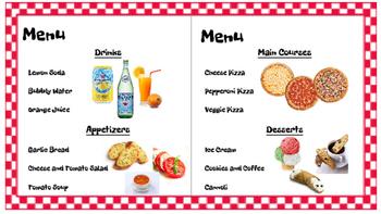 Restaurant Writing Center Pizzeria! Literacy, Reading, Writing, Food, Pizza