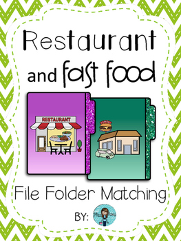 Restaurant and Fast Food File Folder Matching