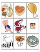 Restaurant and food picture flashcards