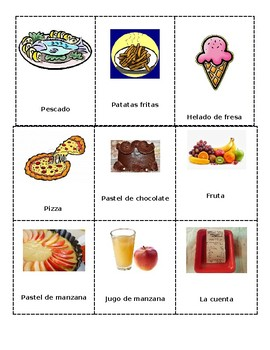 Restaurante prompts and cards