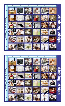 Restaurants and Fast Food Legal Size Photo Battleship Game