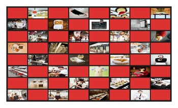 Restaurants and Fast Food Legal Size Photo Checkerboard Game