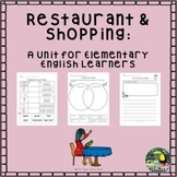 Restaurants & Shopping: ESL Unit for K-2 English learners