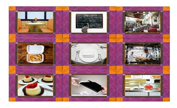 Restaurants and Fast Food Spanish Legal Size Photo Card Game