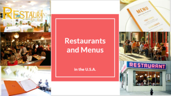 Restaurants and Menus in the USA