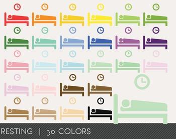 Resting Digital Clipart, Resting Graphics, Resting PNG, Rainbow Resting