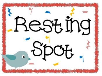 Resting Spot Freebie {Bird and Owl}