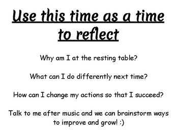 Resting Table Reflection Poster