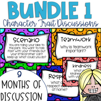 Restorative Circles Character Trait Discussions Yearlong Bundle 1 {Editable}