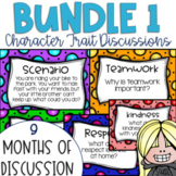 Restorative Circles Character Trait Discussions Yearlong Bundle 1 {Editable}