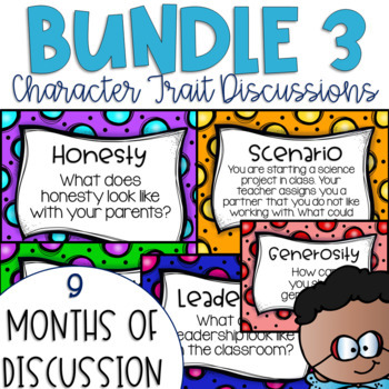 Restorative Circles Character Trait Discussions Yearlong Bundle 3 {Editable}