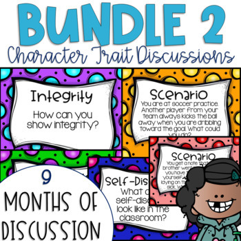 Restorative Circles Character Trait Discussions Yearlong Bundle 2 {Editable}