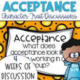 Restorative Circles Character Trait Discussions on Acceptance {Editable}