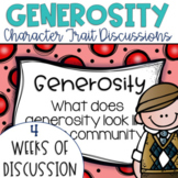 Restorative Circles Character Trait Discussions on Generosity