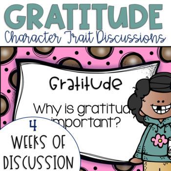 Restorative Circles Character Trait Discussions on Gratitude