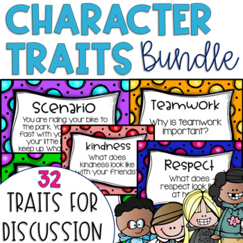 Restorative Circles Daily Character Trait Discussions GROWING BUNDLE {Editable}