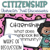 Restorative Circles Daily Character Trait Discussions on Citizenship {Editable}