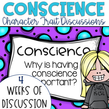 Restorative Circles Daily Character Trait Discussions on Conscience {Editable}