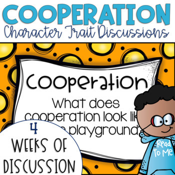 Restorative Circles Daily Character Trait Discussions on Cooperation {Editable}