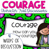 Restorative Circles Daily Character Trait Discussions on Courage {Editable}