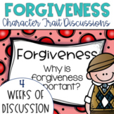 Restorative Circles Daily Character Trait Discussions on Forgiveness {Editable}