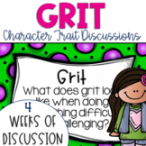 Restorative Circles Daily Character Trait Discussions on Grit {Editable}