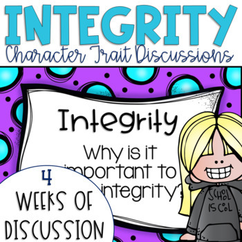 Restorative Circles Daily Character Trait Discussions on Integrity {Editable}