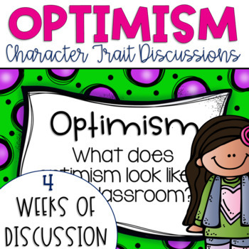 Restorative Circles Daily Character Trait Discussions on Optimism {Editable}