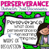 Restorative Circles Daily Character Trait Discussions on Perseverance {Editable}