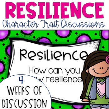 Restorative Circles Daily Character Trait Discussions on Resilience {Editable}