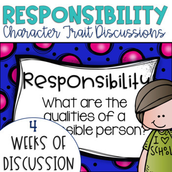 Restorative Circles Daily Character Trait Discussions on Responsibility Editable