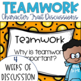 Restorative Circles Daily Character Trait Discussions on Teamwork {Editable}