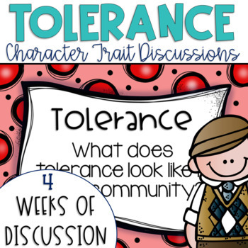 Restorative Circles Daily Character Trait Discussions on Tolerance {Editable}