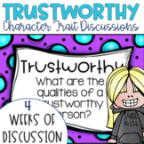 Restorative Circles Daily Character Trait Discussions on Trustworthy {Editable}