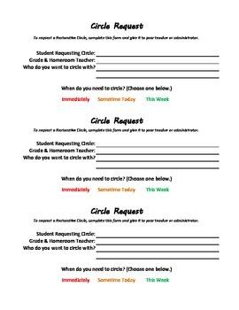Restorative Discipline: Circle Request