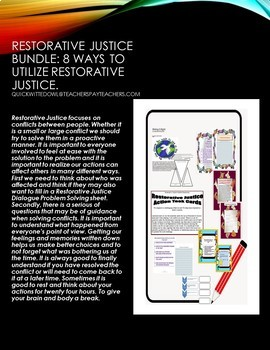 Restorative Justice Bundle
