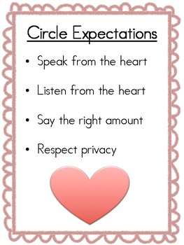 Restorative Justice Circle Expectations-Elementary