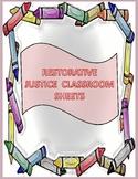 Restorative Justice Classroom Sheets