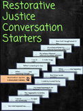 Restorative Justice Conversation Starters Lanyard Cards