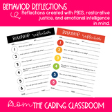 Restorative Justice Expectation / Reflection Sheet *editable*
