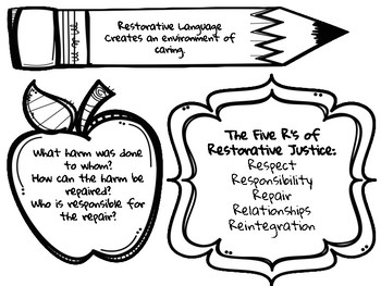 photo regarding Restorative Justice Printable Worksheets referred to as Restorative Justice Worksheets Instruction Supplies TpT