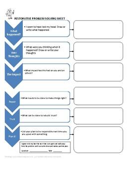 Restorative Justice Problem Solving Sheet