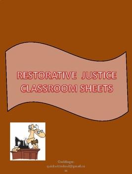 Restorative Justice Problem Solving Sheets