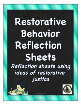 restorative justice teaching resources teachers pay teachers  restorative justice reflection sheets grades k 5